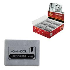 Ластик-клячка KOH-I-NOOR, 47x36x10 мм, серый, прямоугольный, супермягкий, натуральный каучук, 6423018004KD