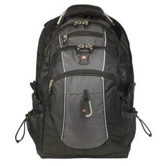Рюкзак WENGER, универсальный, черно-серый, функция ScanSmart, 38 л, 34х23х48 см