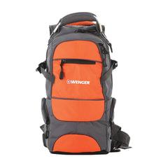 """Рюкзак WENGER, универсальный, серо-оранжевый,""""Narrow hiking pack"""", туристический, 22 л, 23х18х47 см"""