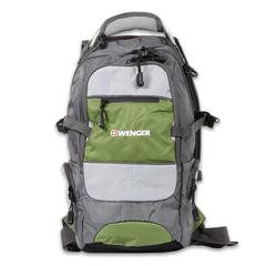 """Рюкзак WENGER, универсальный, серо-зеленый, """"Narrow Hiking Pack"""", туристический, 22 л, 23х18х47 см"""