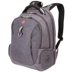 Рюкзак WENGER, универсальный, серый, черные вставки, функция ScanSmart, 31 л, 47х34х20 см, 5902403416