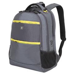 Рюкзак WENGER, универсальный, серый, салатовые вставки, 28 л, 46х33х19 см