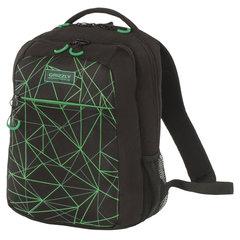 Рюкзак GRIZZLY универсальный, черный, Паутина, 26х39х19 см