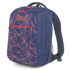 Рюкзак GRIZZLY универсальный, темно-синий, Лучи, 26х39х19 см