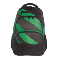 Рюкзак GRIZZLY универсальный, черный/зеленый, 32х45х23 см