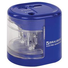 """Точилка электрическая BRAUBERG """"STANDARD"""", два отверстия 6-8/9-12 мм, питание от 4 батареек АА, 228423"""