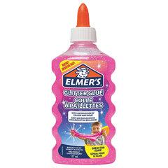 "Клей для слаймов канцелярский с блестками ELMERS ""Glitter Glue"", 177 мл, розовый, 2077249"