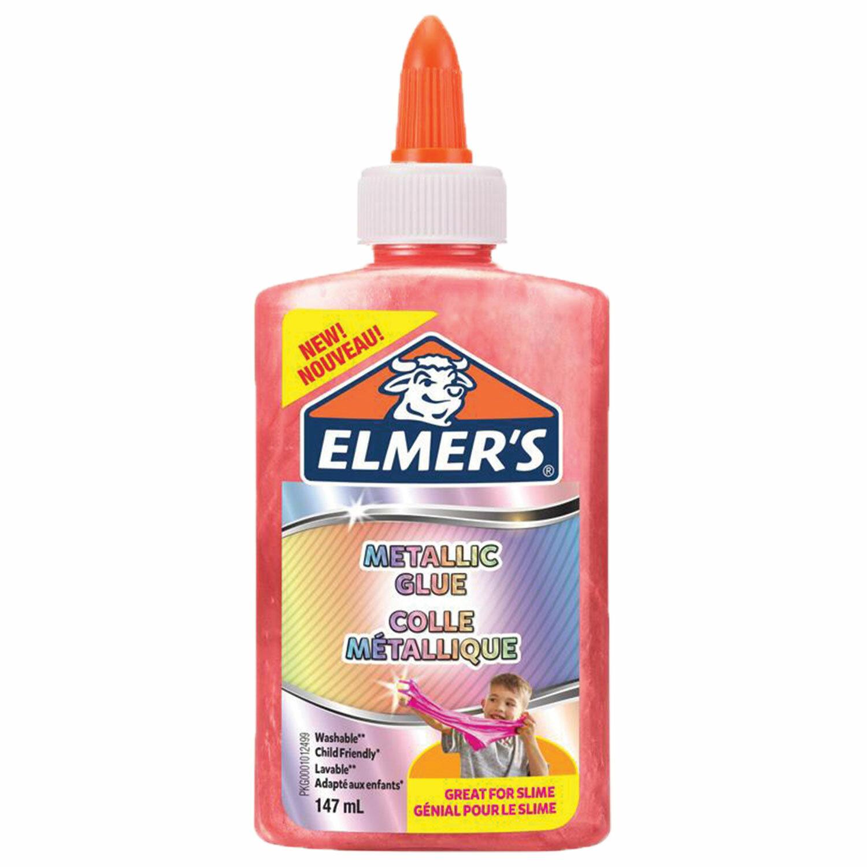 Клей для слаймов канцелярский металлик ELMERS Metallic Glue, 147 мл, розовый, 2109508