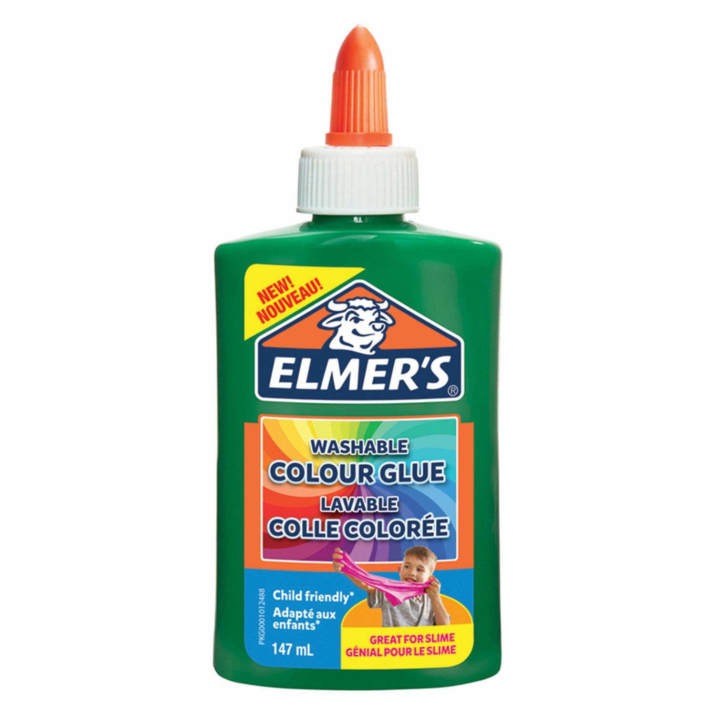 Клей для слаймов канцелярский цветной (непрозрачный) ELMERS Opaque Glue, 147 мл, зеленый, 2109505