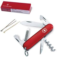 """Подарочный нож VICTORINOX """"Sportsman"""", 84 мм, складной, красный, 13 функций, 0.3803"""
