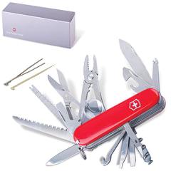 """Подарочный нож VICTORINOX """"Swisschamp"""", 91 мм, складной, красный, 33 функции, 1.6795"""