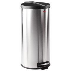 """Ведро-контейнер для мусора (урна) с педалью ЛАЙМА """"Modern"""", 30 л, матовое, нержавеющая сталь, со съемным внутренним ведром, 232265"""