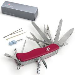 """Подарочный нож VICTORINOX """"Work champ"""", 111 мм, складной, с фиксирующимся лезвием, красный, 21 функция, 0.8564"""