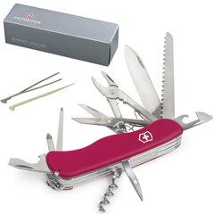 """Подарочный нож VICTORINOX """"Hercules"""", 111 мм, складной, с фиксирующимся лезвием, красный, 18 функций, 0.8543"""
