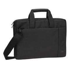 """Сумка деловая RIVACASE 8231 black, отделение для планшета и ноутбука 15,6"""", ткань, черная, 39x29x7 см"""