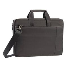 """Сумка деловая RIVACASE, 45,5x32x7 см, отделение для планшета и ноутбука 17,3"""", ткань, серая"""