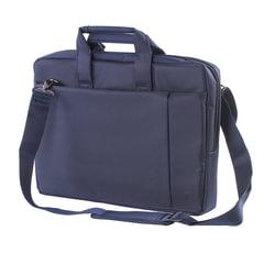 """Сумка деловая RIVACASE, 39х29х7 см, отделение для планшета и ноутбука 15,6"""", ткань, синяя"""