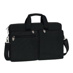 """Сумка деловая RIVACASE, 44х30х9 см, отделение для планшета и ноутбука 17,3"""", ткань, черная"""
