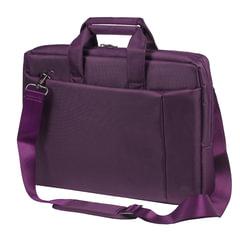 """Сумка деловая RIVACASE, 39x29х7 см, отделение для планшета и ноутбука 15,6"""", ткань, пурпурная"""