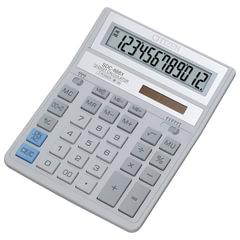 Калькулятор настольный CITIZEN SDC-888ХWH (205х159 мм), 12 разрядов, двойное питание, БЕЛЫЙ