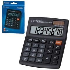 Калькулятор настольный CITIZEN SDC-805BN, МАЛЫЙ (125x102 мм), 8 разрядов, двойное питание