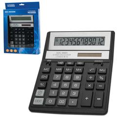 Калькулятор настольный CITIZEN SDC-888ХBK (205х159 мм), 12 разрядов, двойное питание, ЧЕРНЫЙ