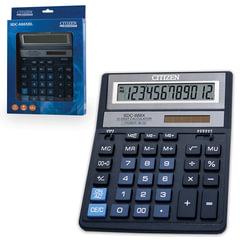 Калькулятор настольный CITIZEN SDC-888XBL (205х159 мм), 12 разрядов, двойное питание, СИНИЙ