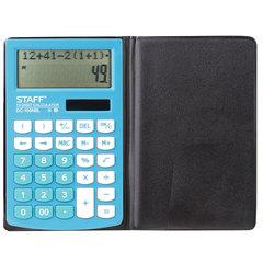 Калькулятор STAFF PLUS настольный DC-100NBL, школьный, 10 разрядов, двустрочный, 147х106 мм, голубой