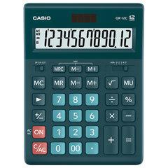 Калькулятор CASIO настольный GR-12С-DG, 12 разрядов, двойное питание, 210х155 мм, темно-зеленый