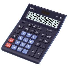 Калькулятор CASIO настольный GR-12-BU, 12 разрядов, двойное питание, 210х155 мм, темно-синий