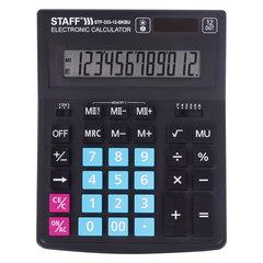"""Калькулятор STAFF """"PLUS"""" настольный STF-333-BKBU, 12 разрядов, 200x154 мм, ЧЕРНО-СИНИЙ, 250461"""
