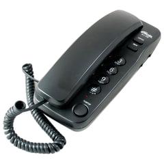 Телефон RITMIX RT-100 black, световая индикация звонка, отключение микрофона, черный