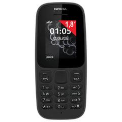 """Телефон мобильный NOKIA 105 DS, TA-1034, 2 SIM, 1,8"""", черный"""