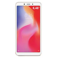 "Смартфон XIAOMI Redmi 6, 2 SIM, 5,45"", 4G (LTE), 5/5 + 12 Мп, 32 Гб, золотой, пластик"