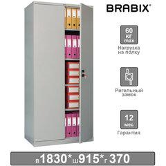 """Шкаф металлический офисный BRABIX """"MK 18/91/37"""", 1830х915х370 мм, 45 кг, 4 полки, разборный, 291135"""