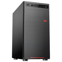Системный блок IRU 312MT INTEL Pentium G5400, 3,7 ГГц, 4 ГБ, 500 ГБ, Windows 10 HOME, черный