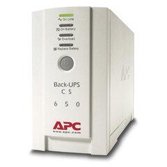 Источник бесперебойного питания APC Back-UPS BK650EI, 650 VA (400 W), 3 розетки IEC 320, белый
