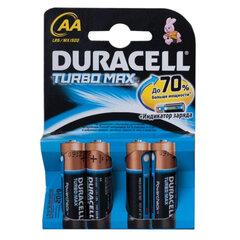 Батарейки DURACELL TurboMax, AA LR6, Alkaline, комплект 4 шт., блистер, 1,5 В