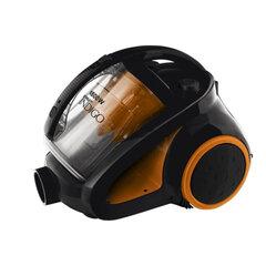 """Пылесос SCARLETT IS-580 с контейнером """"мультициклон"""", потребляемая мощность 1800 Вт, мощность всасывания 400 Вт, черный/оранжевый"""
