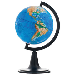 Глобус физический, диаметр 120 мм