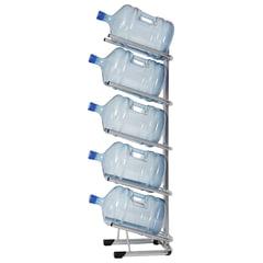 Стеллаж для хранения воды HOT FROST, для 5 бутылей, металл, серебристый