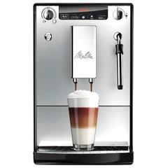 Кофемашина MELITTA CAFFEO SOLO&MILK Е 953-102, 1400 Вт, объем 1,2 л, емкость для зерен 125 г, ручной капучинатор, серебристая