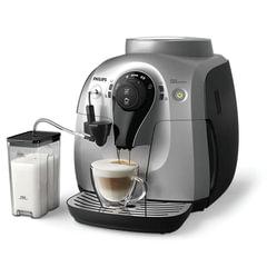 Кофемашина PHILIPS HD8654/59, 1 л, 1400 Вт, 15 бар, емкость для зерен 180 г, автокапучинатор, серебристо-черная