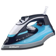 Утюг SCARLETT SC-SI30K18, 2400 Вт, терморегулятор, керамическая поверхность, экорежим, черный/голубой