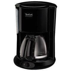 Кофеварка капельная TEFAL CM261838, 1000 Вт, объем 1,25 л, пластик, черная