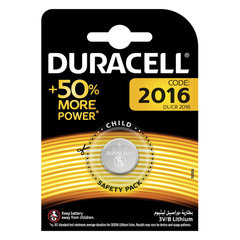 Батарейка DURACELL, CR2016, Lithium, 1 шт., в блистере, 3 В