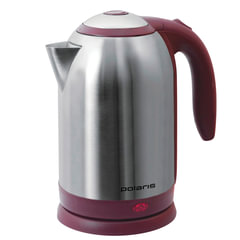 Чайник POLARIS PWK-1864CA, 1,8 л, 1800 Вт, закрытый нагревательный элемент, сталь, бордовый