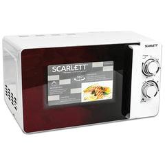 Микроволновая печь SCARLETT SC-MW9020S04M, объем 20 л, 700 Вт, механическое управление, гриль, таймер, белая