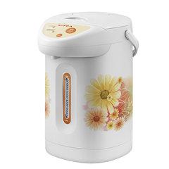 Термопот SUPRA TPS-3001, 3 л, 760 Вт, 2 режима подачи воды, пластик, белый с цветочным принтом