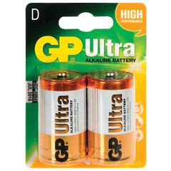 Батарейки GP Ultra, D (LR20, 13А), алкалиновые, 2 шт., в блистере